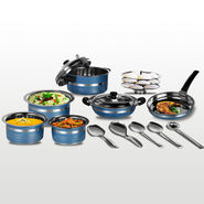 14 Pcs Colored HTR Cookware Set