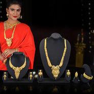 2 Gold Jewellery Sets with Kada