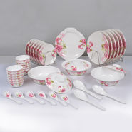 40 Pcs Floral Print Melamine Dinner Set