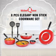8 Pcs Elegant Non Stick Cookware Set