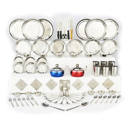 81 Pcs Stainless Steel Dine & Utility Combo