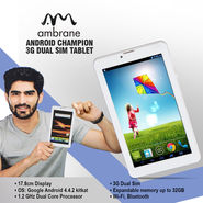 Ambrane Android Champion 3G Dual SIM Tablet