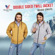 American Indigo Double Sided Twill Jacket - Beige (TWJ3)