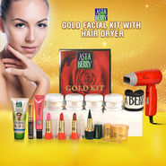 Astaberry Gold Facial Kit with Hair Dryer