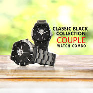 Classic Black Collection - Couple Watch Combo