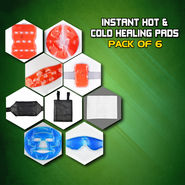 Instant Hot & Cold Healing Pads - Pack of 6