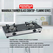 Maharaja 2 Burner Glass Cooktop - Flamino Series