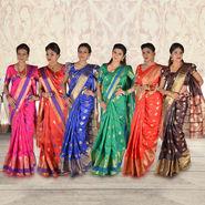 Pick Any One Kanjeevaram Silk Saree by Zuri (KSS17)