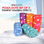 Polka Dots Set of 5 Panipat Kambal (5FB11)