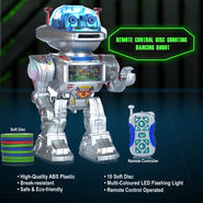 Remote Control Disc Shooting Dancing Robot