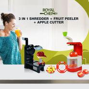 Royal Chef 3 in 1 Shredder + Fruit Peeler + Apple Cutter