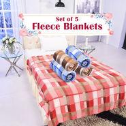 Set of 5 Fleece Blankets (5FB12)