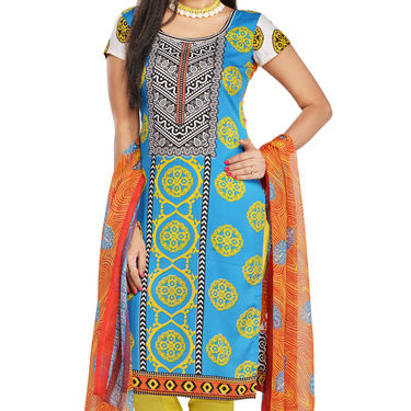 Aliyah Set of 7 Mughal Inspired Printed Dress Material by Pakhi (7PDM4)