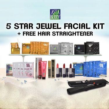 Astaberry 5 Star Jewel Facials + Free Hair Straightener