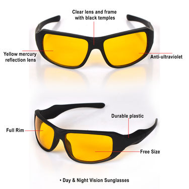 HD Vision Glasses + 2 Day & Night Sunglasses Combo
