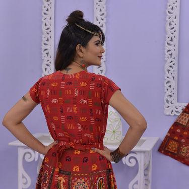 Pack of 2 Jaipuri Long Anarkali Kurta by Pakhi (2LK1)