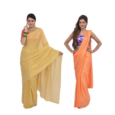 Pack of 2 Sunehari Sarees by Pakhi (2SNS1)