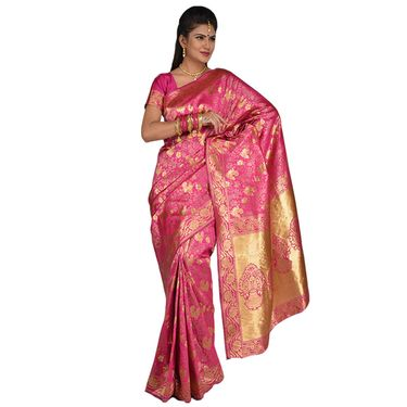 Pick Any One Silk Saree with Golden Zari Work by Zuri (KSS16)