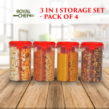 Royal Chef 3 in 1 Storage Set - Pack of 4
