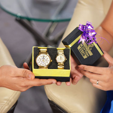 Scottish Club Couple Watch - Chrono with Gold Strap