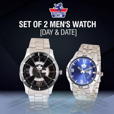 Scottish Club Set of 2 Men's Watch (Day & Date)