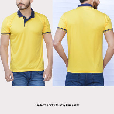 Set of 5 Collar T-shirts for Men by Mr. Tusker
