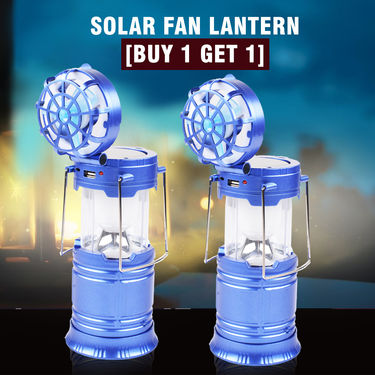 Solar Fan Lantern (Buy 1 Get 1)