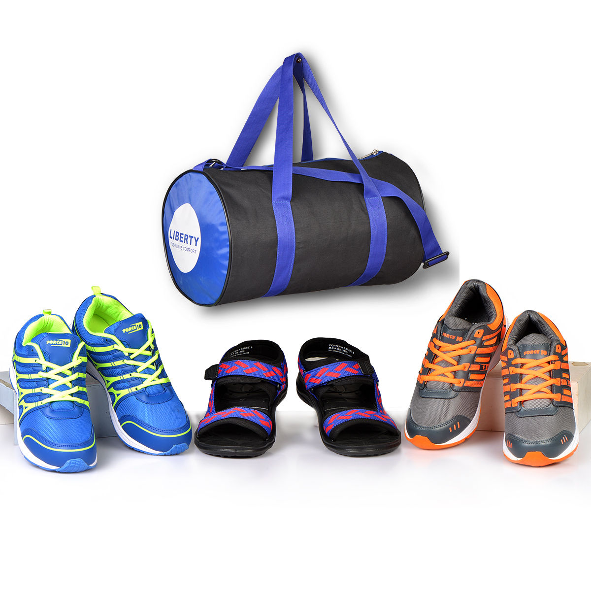 7b5d71d4a8a0d Buy Liberty 2 Sports Shoes + Multipurpose Bag + 1 Sandal Online at Best  Price in India on Naaptol.com