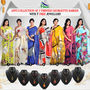 Anvi Collection of 7 Printed Georgette Sarees (7G21) with 7 Free Jewellery