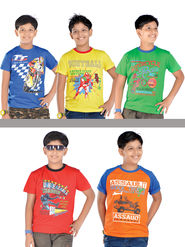 American Indigo 5 Graphic T-Shirts for Boys