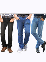 American Indigo Exclusive Denims for Men - Pack of 3