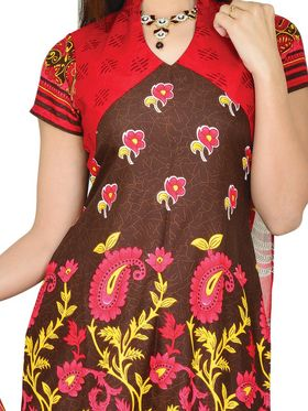 Aadarshini Exclusive 7 Printed French Crepe Dress Material (7FCDM1) - AKSO